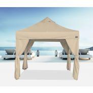 Tente pliante Bungalow® 3x3 avec rideaux