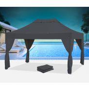 Tente pliante Bungalow® 3x4.5 avec 6 rideaux