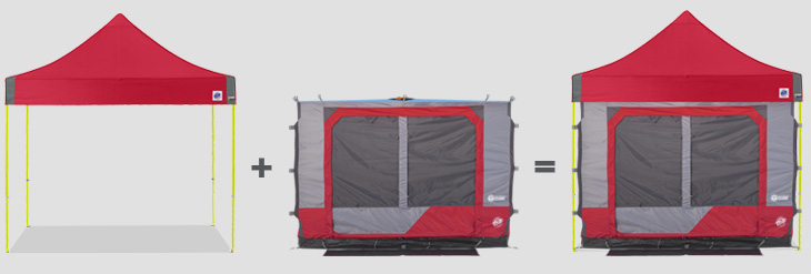 Camping Cube™ 1+1=2
